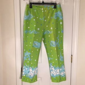 Size 10 Lilly Pulitzer shark print pants